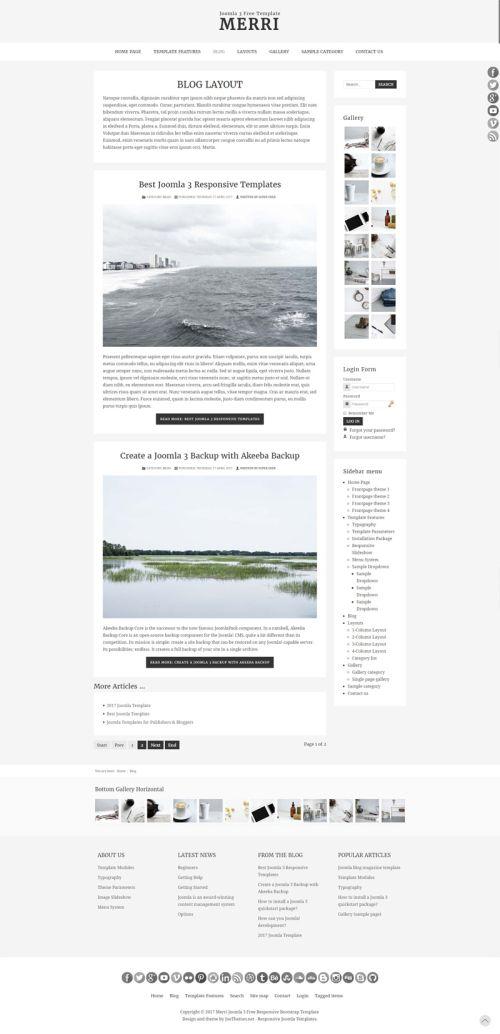 merri joomla template blog 800x
