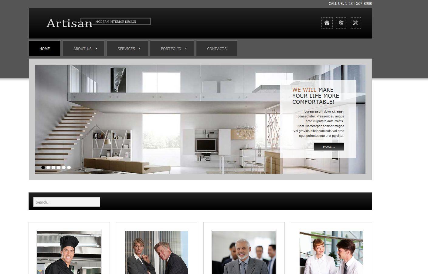 Скачать шаблоны для мебельных сайтов бесплатно
