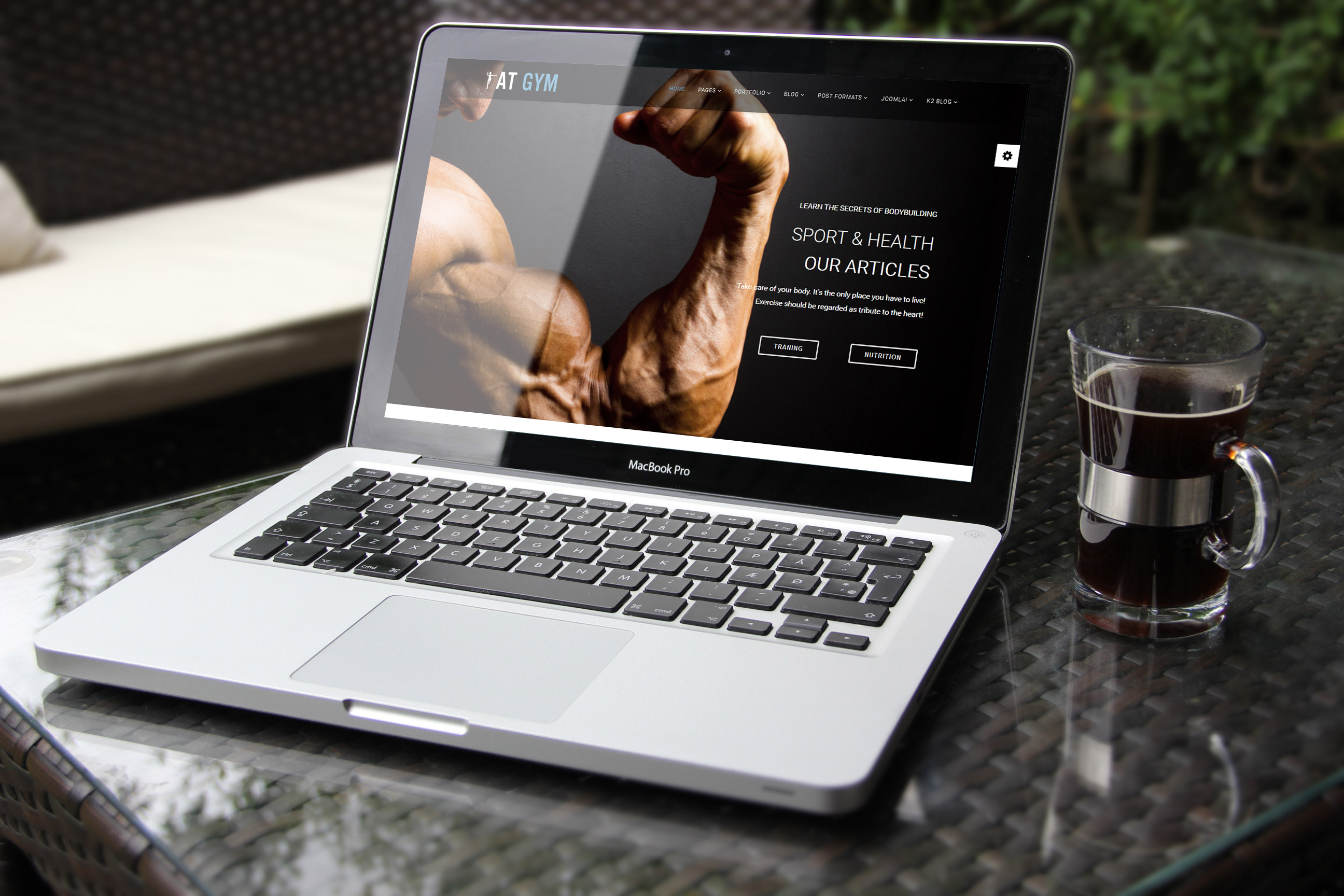 Gym Joomla template main picture